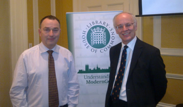 Huw with constitutional expert Lord Norton at ModernGov course on Parliamentary Questions.